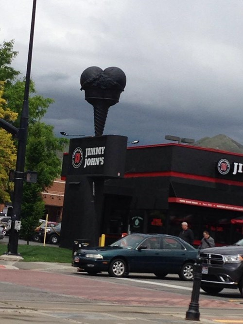 funny signs image Maybe This Jimmy Johns Has Ice Cream Sandwiches?