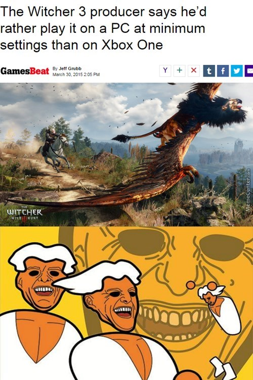 PC,the witcher 3,xbox,PC MASTER RACE,xbox one