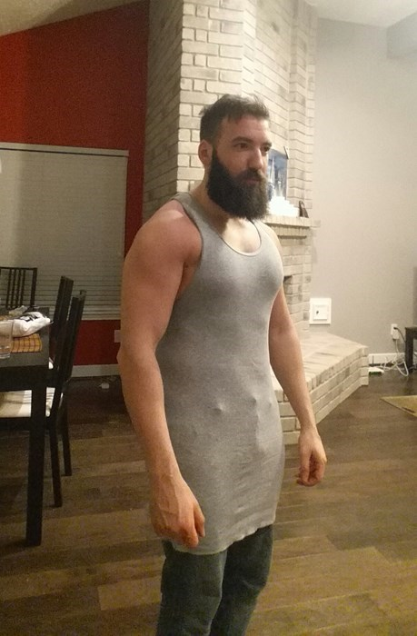 """These Were Supposed to be Loose-Fitting XL Tank Tops. Little Did He Know Where that """"X"""" Went..."""
