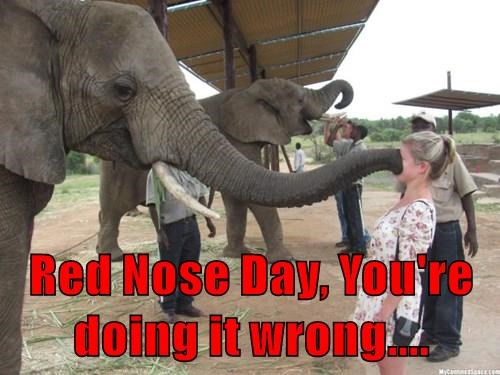 Red Nose Day, You're doing it wrong....