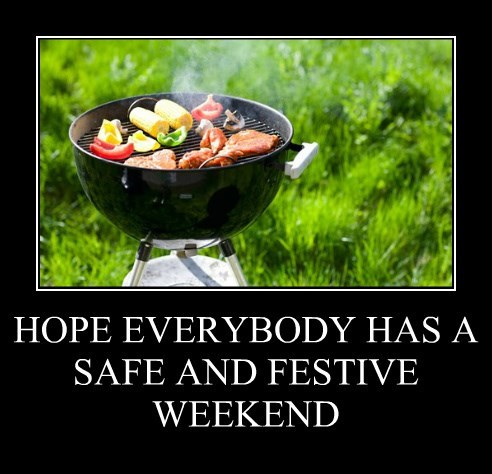 HOPE EVERYBODY HAS A SAFE AND FESTIVE WEEKEND