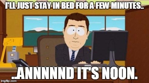 Sleeping In On Weekends