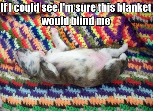 If I could see I'm sure this blanket would blind me