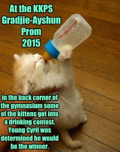 At the KKPS Gradjie-Ayshun Prom  2015