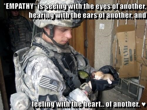 *EMPATHY* is seeing with the eyes of another, hearing with the ears of another, and  feeling with the heart.. of another. ♥