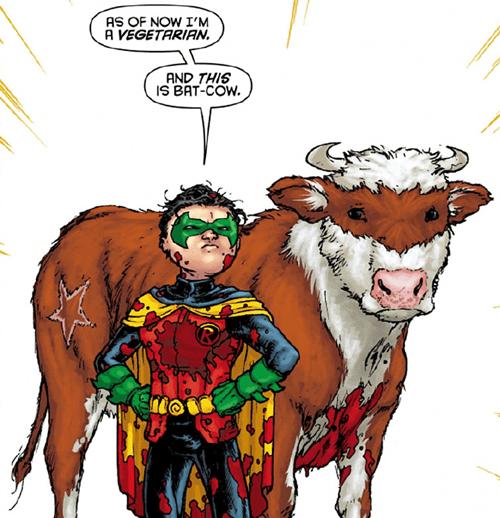 The new sidekick: Bat-Cow!