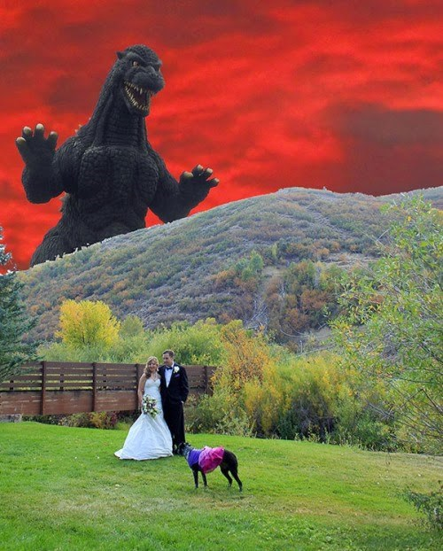 funny wedding photos Weird Weather but the Lighting is Great for These Pictures!