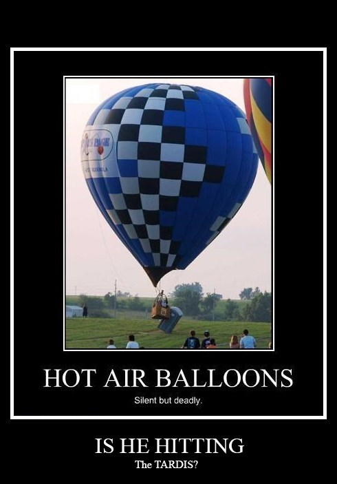 tardis,doctor who,demotivational,hot air balloons,image
