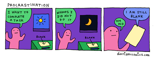 Procrastination is Tough Thing to Write About