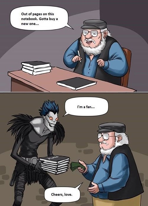 Game of Thrones,anime,death note