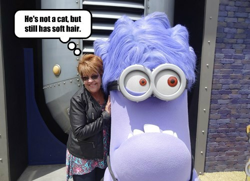 NawtyKitty scares a Minion...