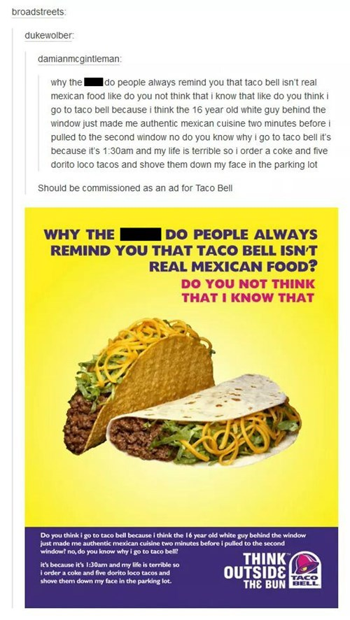 Honest Taco Bell Advertising