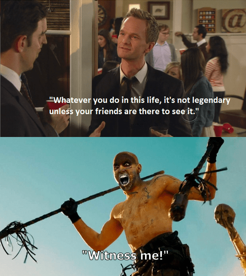 Mad Max,crossover,how i met your mother