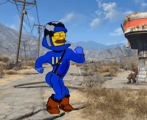 fallout,fallout 4,ned flanders,the simpsons