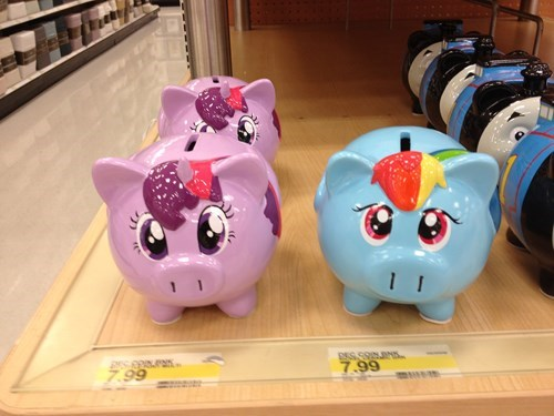 pig,MLP,piggy banks