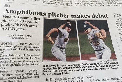 A Small Oregon Paper Just Announced the World's First Frog Pitcher
