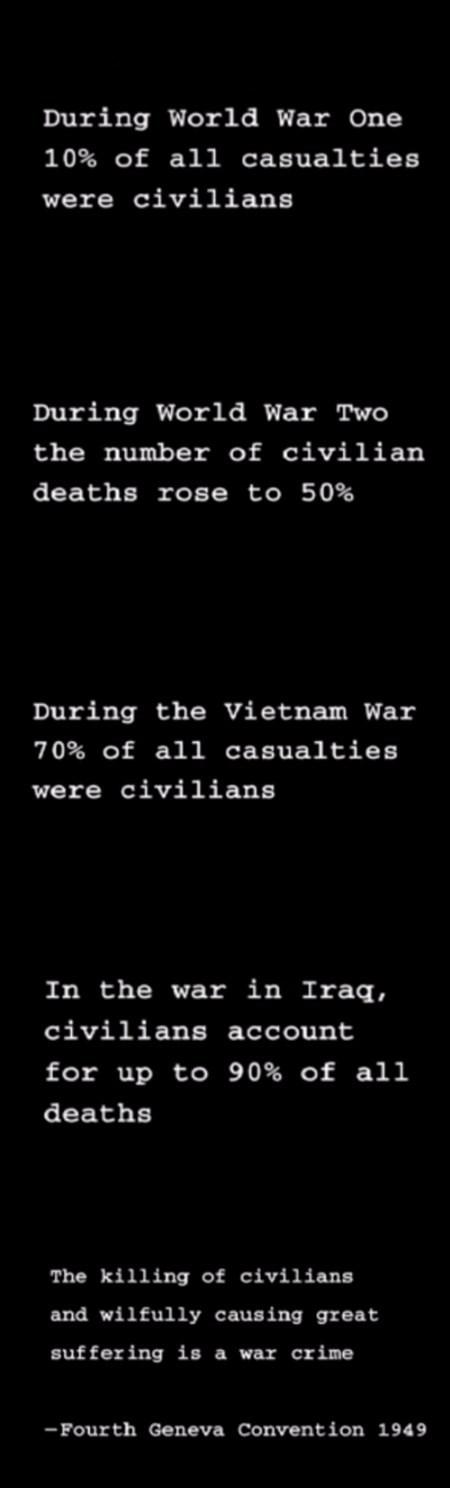 Killing Civilians is against the Geneva Convention USA!