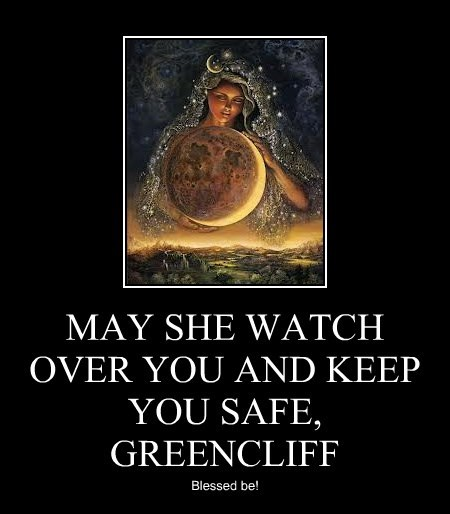 MAY SHE WATCH OVER YOU AND KEEP YOU SAFE, GREENCLIFF