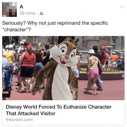 the onion, misinterpretation, disney world, disney, euthanasia