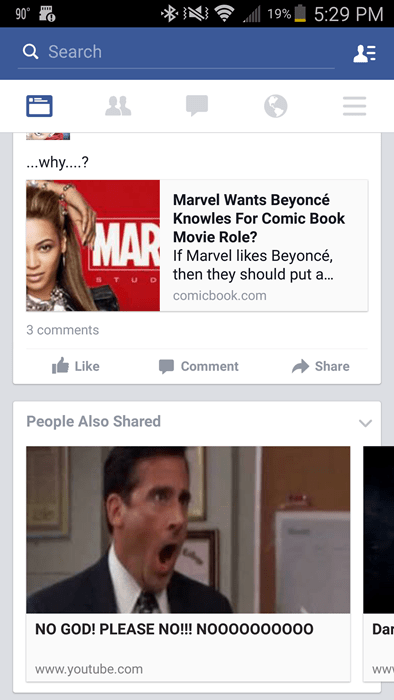 Facebook suggestion no god beyonce marvel character