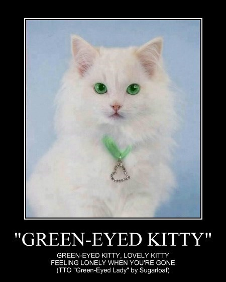 """GREEN-EYED KITTY"""