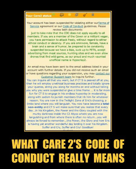WHAT  CARE 2'S  CODE  OF  CONDUCT  REALLY  MEANS