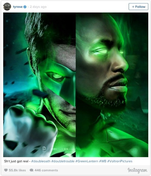 Tyrese Gibson is Teasing Us About The Green Lantern News