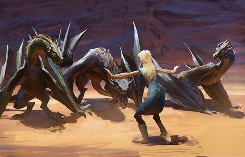 Game of thrones memes season 5 Dany handles her dragons Chris Pratt style.