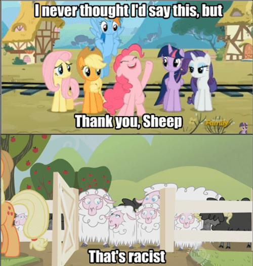 racism,pinkie pie,sheep