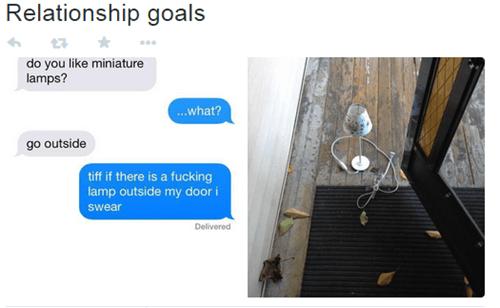 romantic, lamps, flirting, texting