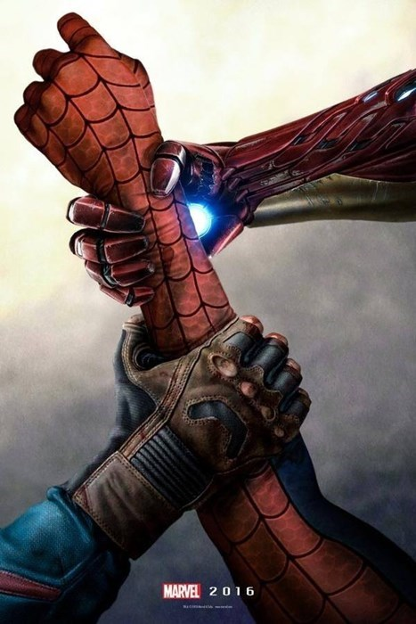 superheroes-civil-war-marvel-iron-man-captain-america-fight-over-spider-man-fan-poster