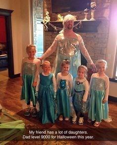 halloween, dad, daughters, costume