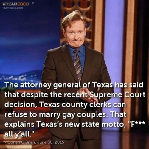 texas, gay marriage, conan obrien