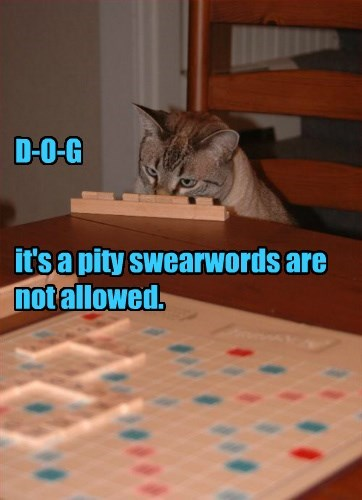 D-O-G    it's a pity swearwords are not allowed.