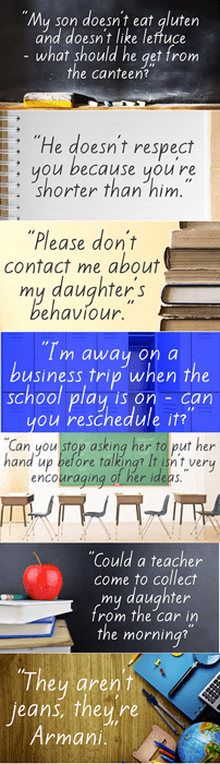teachers, parents, complaints