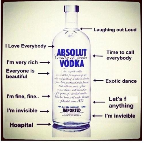 vodka, drunk, stages