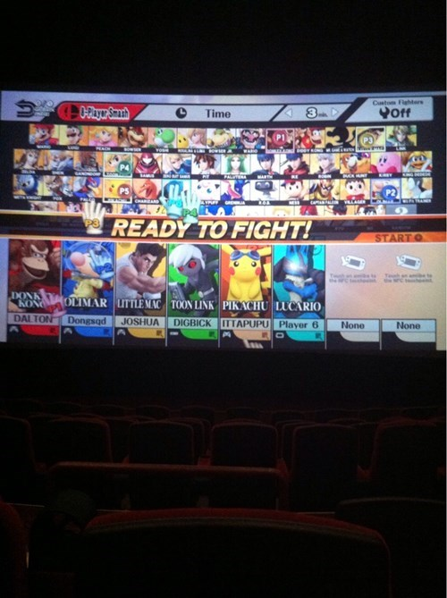 Playing Super Smash Bros. in a Movie Theater is the Best Way to Play