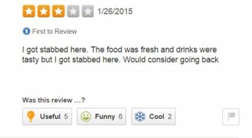 yelp, stabbed, food, fresh
