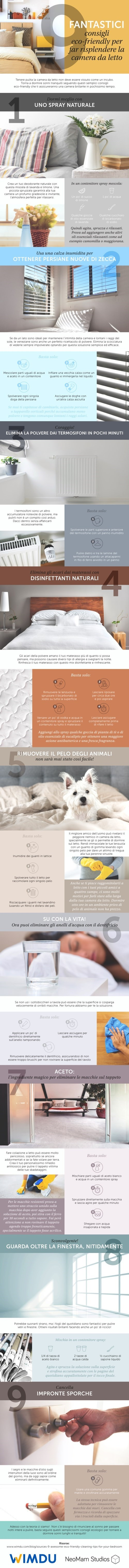 9 awesome, eco-friendly cleaning tips for your bedroom(Italian)