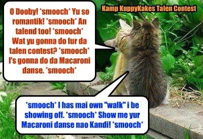 Dooby and Kandi discuss da Talen Contest at Kamp KuppyKakes