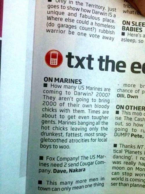 When the Marines Go to Australia