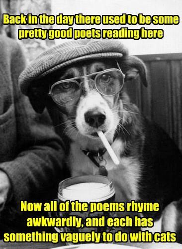 Bukowski's dog also super hates poetry about postmen