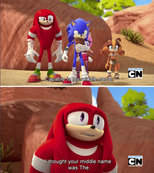cartoon memes sonic the hedgehog middle name