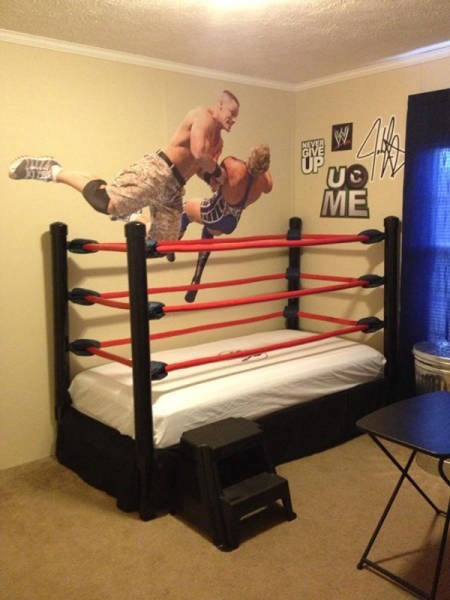 This Kid's Bed is the Ultimate Wrestling Fan's Dream