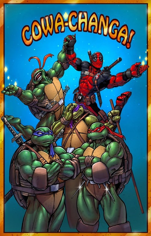 TMNT,deadpool,fan art