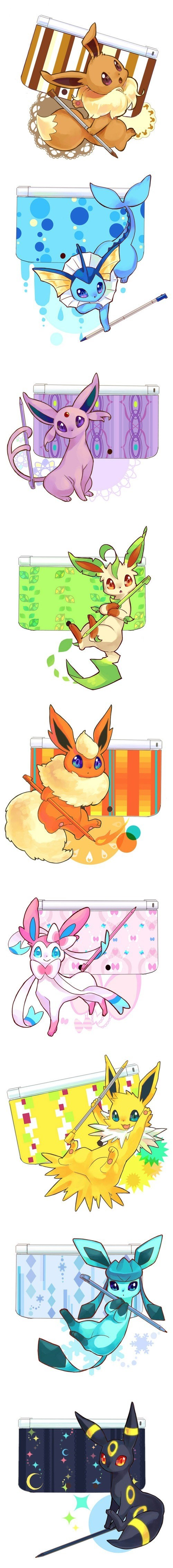 Imagine If Your 3DS Could be Eeveelution Themed
