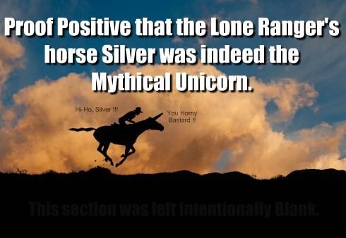 A Silver Unicorn in hand is worth 2 Horns in da Bush.