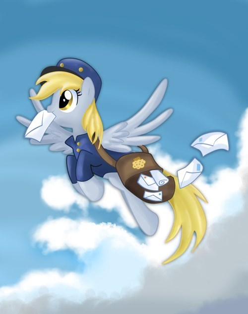 derpy hooves,mail,come rain or sleet