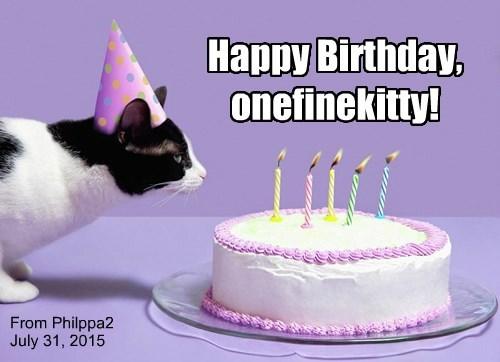 Happy Birthday, onefinekitty!