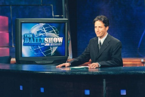 Jon stewart says goodbye to the Daily Show in a big way.